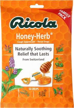 Ricola Honey-Herb® Cough Suppressant - Throat Drops 50 ct Bag
