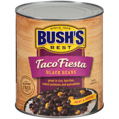 Bush's Best® Taco Fiesta Black Beans 108 oz. Can