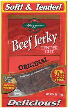 Haggen Tender Cut Original Beef Jerky 4 Oz Peg