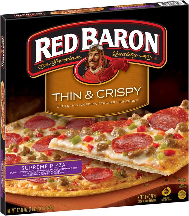 Red Baron® Thin Crust Supreme Pizza 17.46 oz. Box