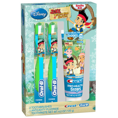 Oral-B Pro-Health Stages Jake and the Neverland Pirates Smile Kit