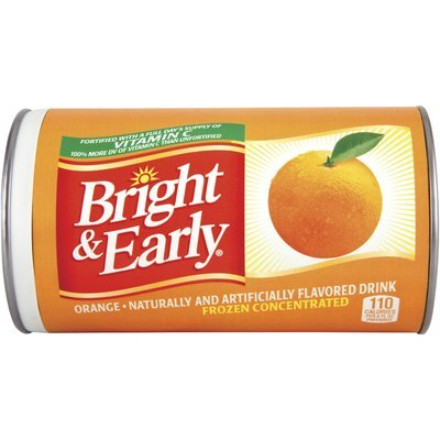 Bright & Early® Orange Drink Frozen Concentrated 12 fl. oz. Can