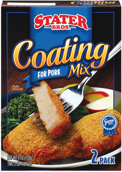 Stater Bros. For Pork 2 3 Oz Packets Coating Mix 6 Oz Box