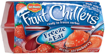 Fruit Chillers™ Arctic Strawberry Frozen Fruit Sorbet 4-4.5 oz. Cups