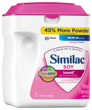 Similac® Isomil® Soy for Fussiness & Gas with Iron Powder 2.13 lb. Canister