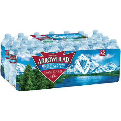 Arrowhead Mountain Spring Water Value Pack 28-0.5L Plastic Bottles