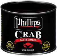 Phillips Jumbo Lump Pasteurized Crab Meat 16 Oz Can