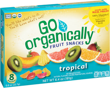 Go Organically® Tropical Fruit Snacks 8 ct Box