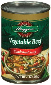 Haggen Vegetable Beef Condensed Soup 10.5 Oz Can