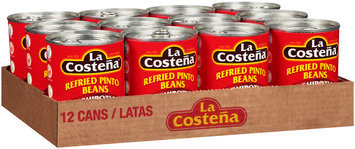 La Costena® Refried Pinto Beans with Chipotle 12-20.5 oz. Cans