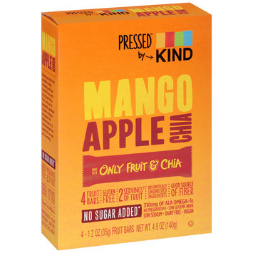Kind™ Pressed™ Mango Apple Chia Fruit Bars 4-1.2 oz. Wrappers