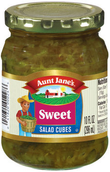 Aunt Jane's Salad Cubes Sweet Pickles 10 Oz Jar