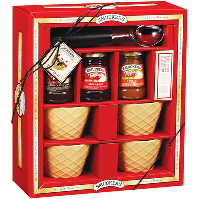 Smucker's Gift Set Ice Cream Toppings 9 Ct Box