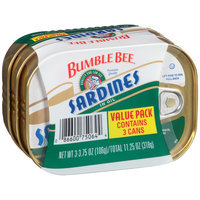Bumble Bee® Sardines in Oil 3-3.75 oz. Tins