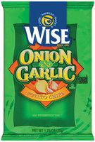 Wise Onion & Garlic Potato Chips 1.25 Oz Bag