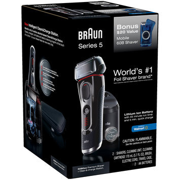 Mixed Braun Series 5 5090cc Electric Shaver with Cleaning Center Plus Bonus Mobile Shaver