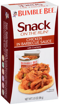 Bumble Bee® Chicken in Barbecue Sauce Chicken with Crackers Kit 3.5 oz. Box