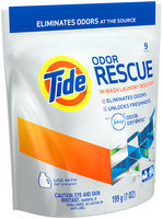 Tide Odor Rescue with Febreze Odor Defense In-Wash Laundry Booster Pacs, 9 loads