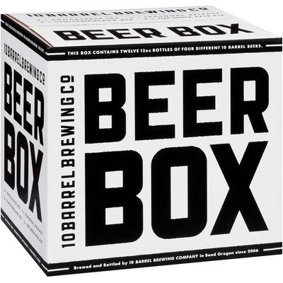10 Barrel Brewing Co. Apocalypse IPA/Seasonal Release/Sinistor Black Ale/Joe India Pale Ale Beers Beer Box Variety Pack 12-12 fl. oz. Bottles