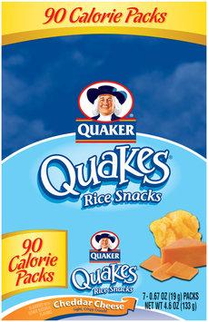 Quaker Quakes Cheddar Cheese 7 Ct Rice Snacks .67 Oz Box