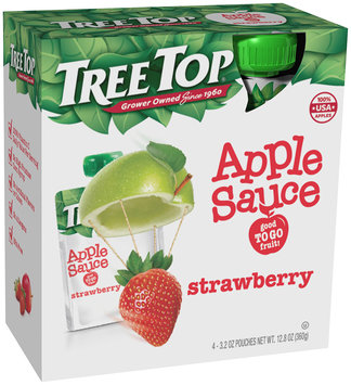 Tree Top® Strawberry Apple Sauce 4-3.2 oz. Pouches