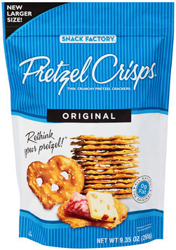 Pretzel Crisps® Original Pretzel Crackers 9.35 oz. Bag