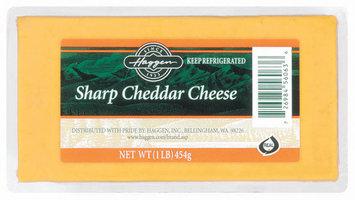 Haggen Sharp Cheddar Cheese 1 Lb