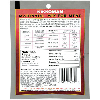 KIKKOMAN For Meat Marinade Mix 1 OZ PEG