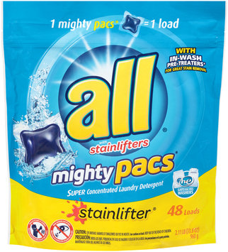 all® stainlifter® mighty pacs® Laundry Detergent 48 Loads 33.8 oz. Pouch
