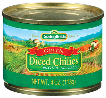 Springfield Green Diced Roasted & Peeled Chilies 4 Oz Can