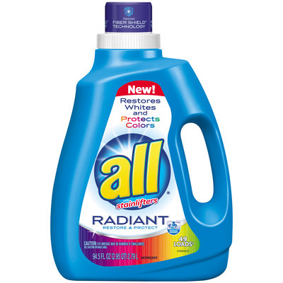 all® Radiant Laundry Detergent 49 Loads 94.5 fl. oz. Bottle