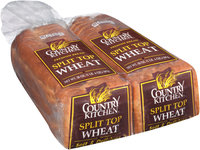 Country Kitchen® Split Top Wheat Bread 2-20 oz. Loaf Bag