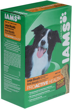 Iams® ProActive Health™ Large Biscuits with Natural Chicken Flavor Dog Treats 2.6 lb. Box