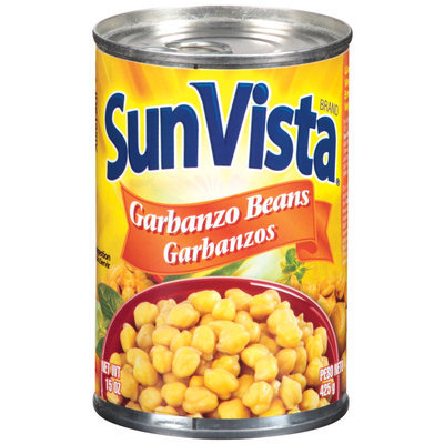 Sun-Vista Garbanzos Garbanzo Beans 15 Oz Pull-Top Can