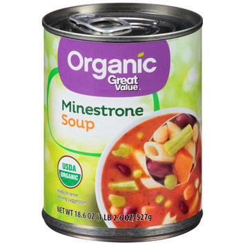 Great Value™ Organic Minestrone Soup 18.6 oz. Pull-Top Can