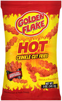 Golden Flake® Hot Crinkle Cut Fries Flavored Corn & Potato Snacks 5 oz. Bag