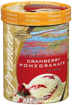 Haggen Cranberry Pomegranate Premier Ice Cream 1.75 Qt Tub