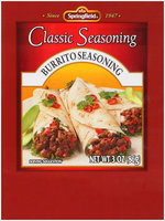 Springfield® Burrito Seasoning Classic Seasoning 3 oz Packet