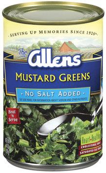 The Allens No Salt Added Mustard Greens 14 Oz Can