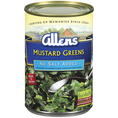 The Allens No Salt Added Mustard Greens 14 Oz Can