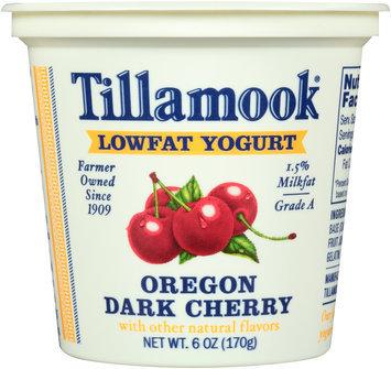 Tillamook® Oregon Dark Cherry Lowfat Yogurt 6 oz. Cup