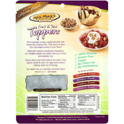 Mrs. May's Naturals® Fruit & Nut Toppers 4 oz Pouch