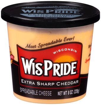 WisPride® Extra Sharp Cheddar Spreadable Cheese 8 oz. Tub