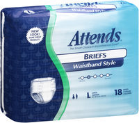 BRW103036 Attends® Briefs Waistband Style Large Retail, 18 count