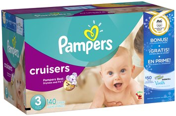 Pampers Cruisers Olympics Size 3 Diapers 140 ct Box