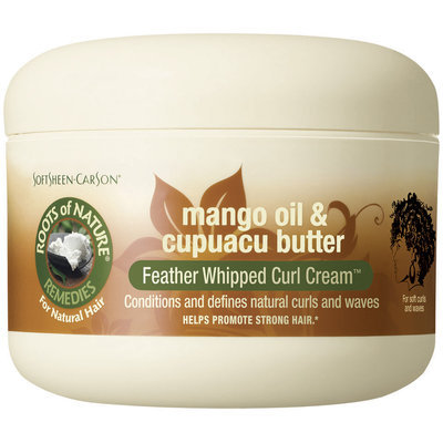Roots of Nature Mango Oil & Cupuacu Butter Feather Whipped Curl Cream 1 Ct Jar