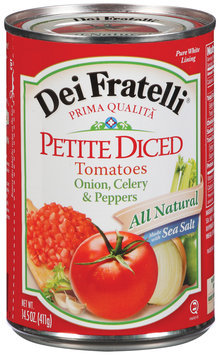 Dei Fratelli Petite Diced W/Onion Celery & Peppers Tomatoes 14.5 Oz Can
