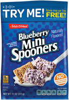 Malt-O-Meal® Blueberry Mini Spooners® Lightly Sweetened Whole Grain Wheat Cereal 11 oz. Bag
