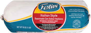 Festive Italian Style Ground Turkey 16 oz. Chub
