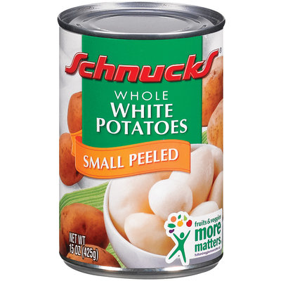 Schnucks Small Peeled Whole White Potatoes 15 Oz Can